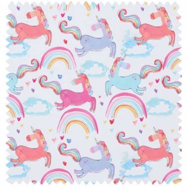 Rainbow Unicorns Fuschia